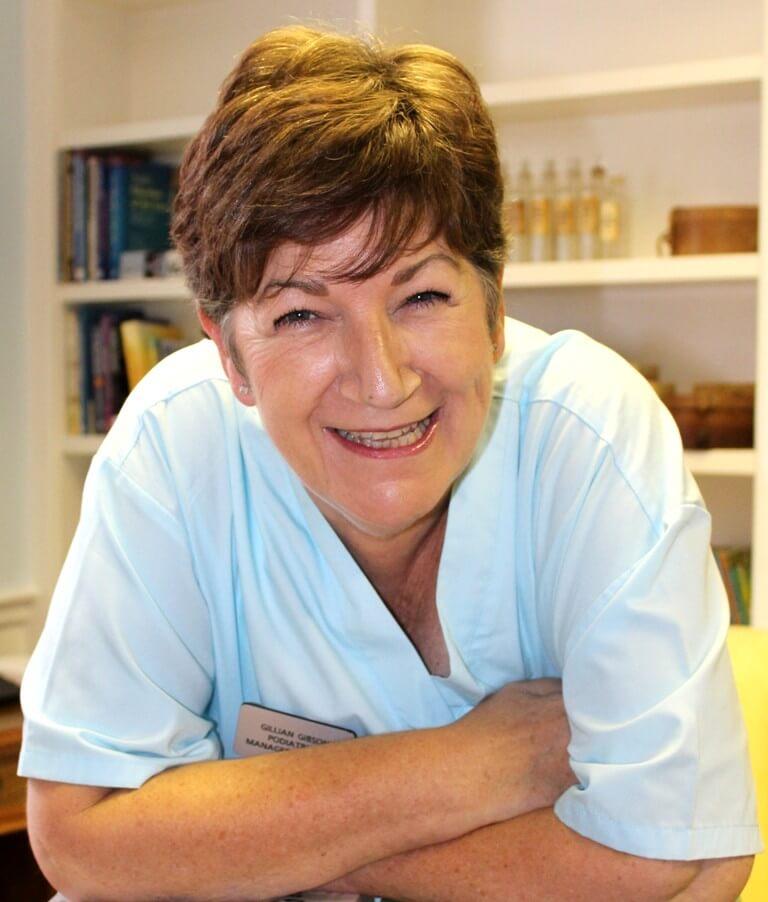 Gillian Gibson of Totally Podiatry, Langport, Somerset