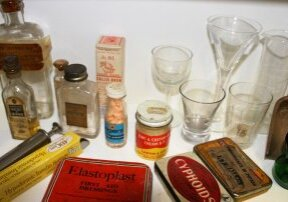 Historical medicines and equipment